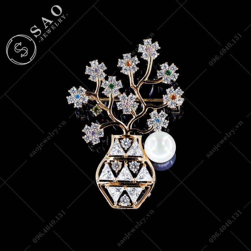 Cài áo bình hoa thời trang SAO - C428