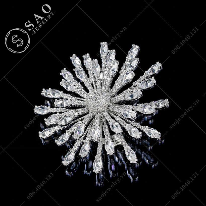 Cài áo nữ bông tuyết cao cấp SAO - C360