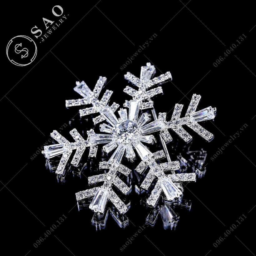 Cài áo bông tuyết pha lê SAO - C337