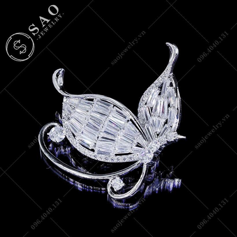 Cài áo bướm pha lê cao cấp SAO - C106