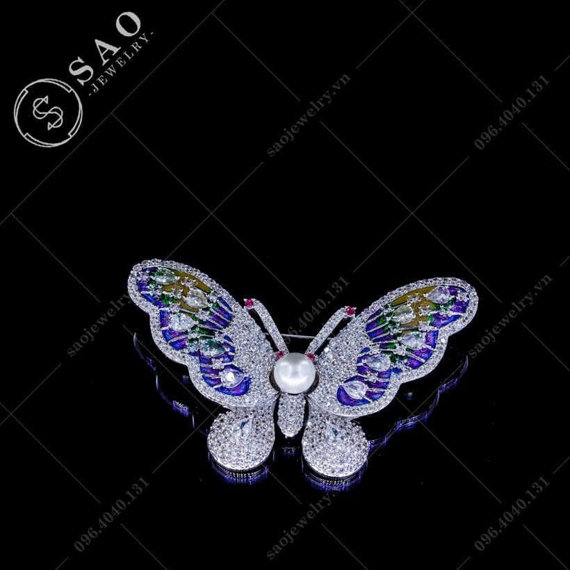 Cài áo nữ bướm sang trọng SAO - C142