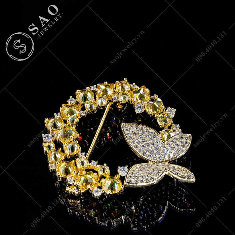 Cài áo nữ bướm vòng cao cấp SAO - C368