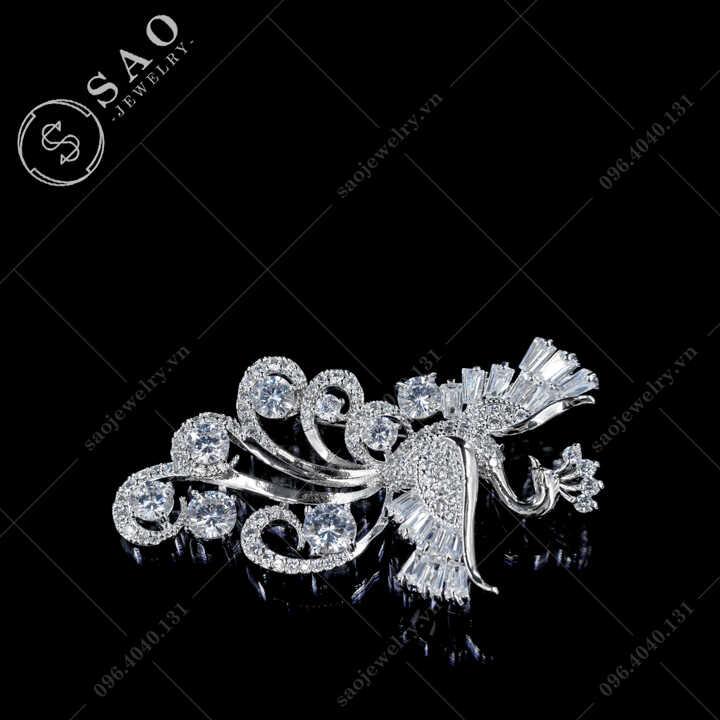 Cài áo phượng hoàng múa lượn SAO - C671