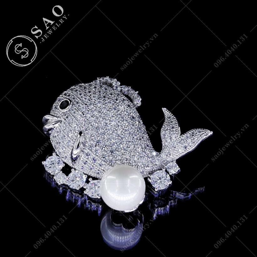 Cài áo cá voi cao cấp SAO - C81