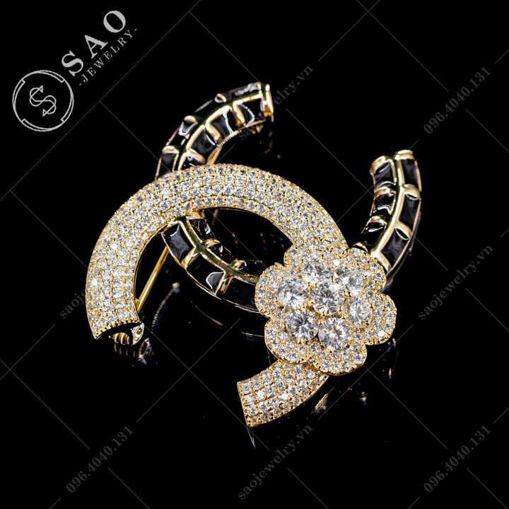 Cài áo Chanel cao cấp SAO - C604