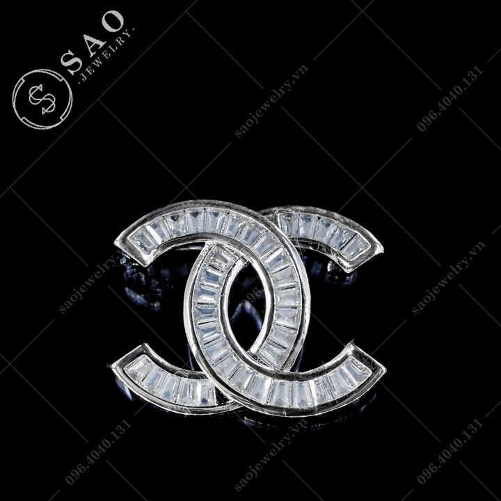 Cài áo Chanel đính pha lê SAO - C482