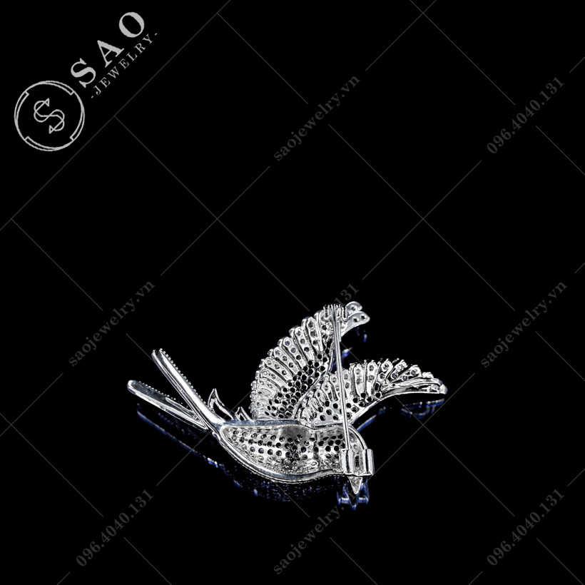 Cài áo chim đính đá hàn quốc SAO - C373