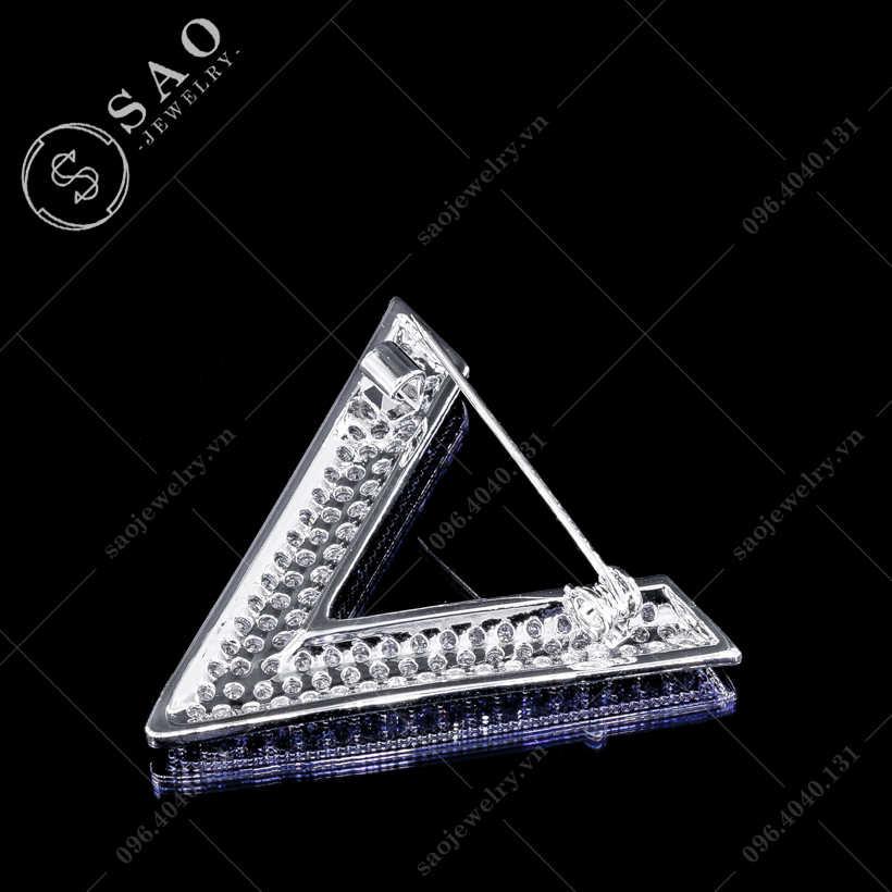 Cài áo chữ V đính đá cao cấp SAO - C161