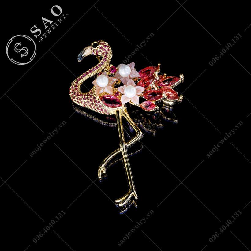 Cài áo nữ hạt chở hoa cao cấp SAO - C233