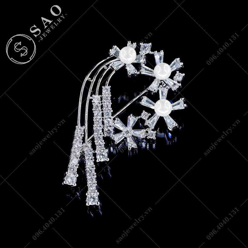 Cài áo hoa bay thanh lịch SAO - C387