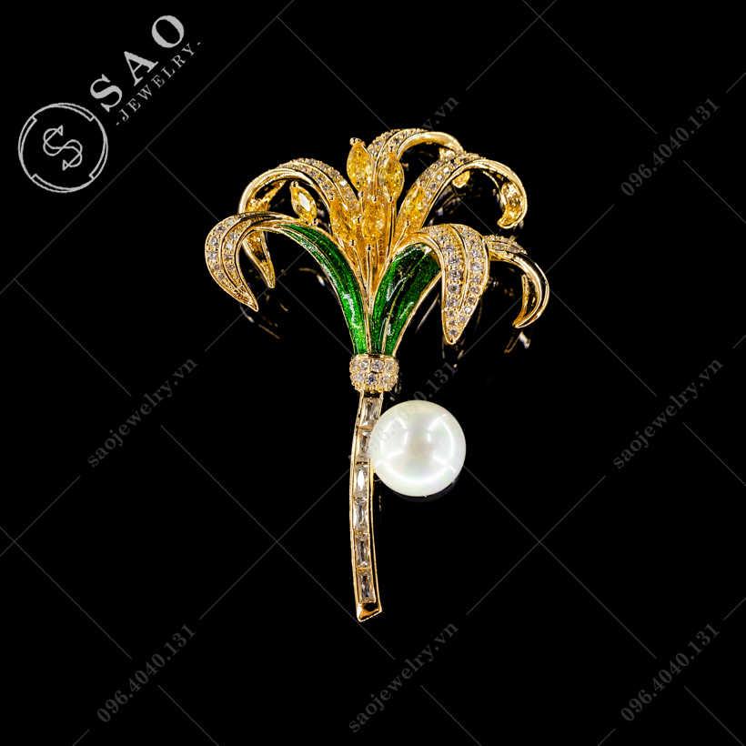 Cài áo hoa Lily sang trọng SAO - C425