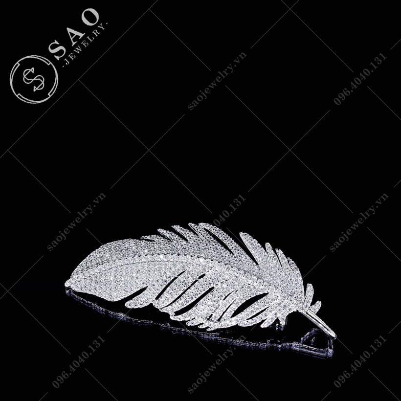 Cài áo lông vũ cao cấp SAO - C34