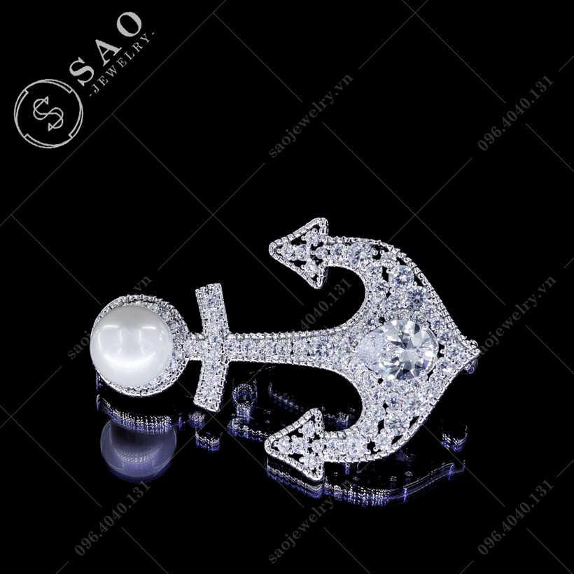 Cài áo mỏ neo cao cấp SAO - C90