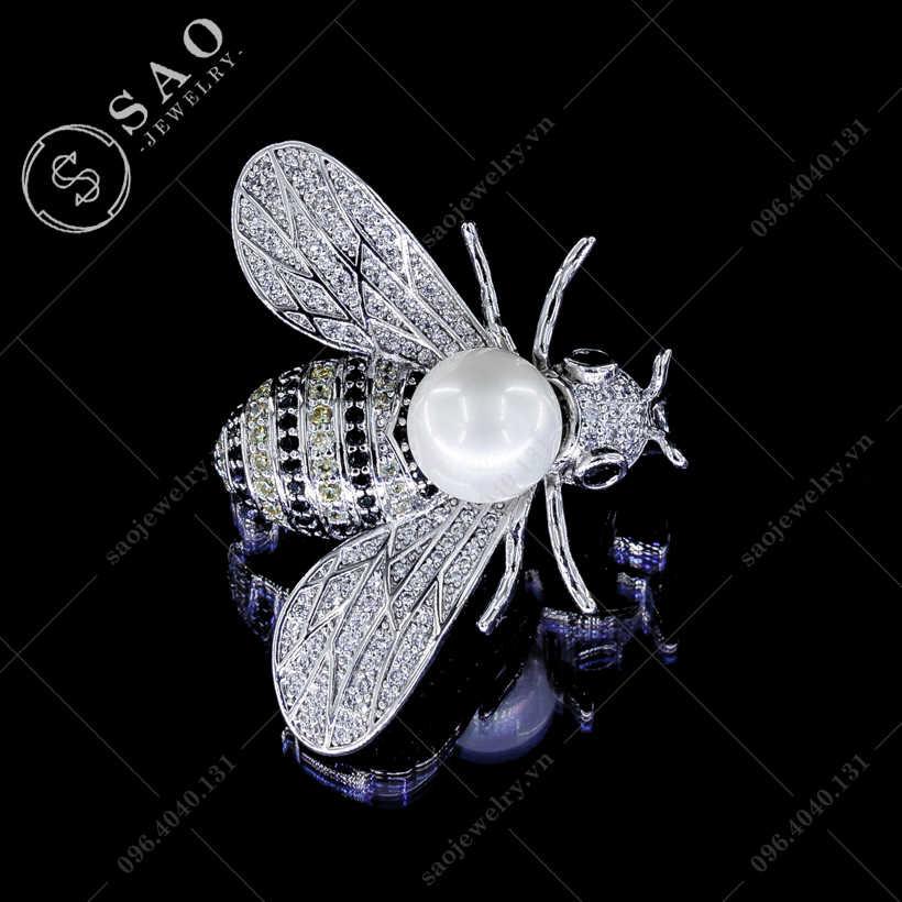Cài áo nữ ong đính đá cao cấp SAO - C100
