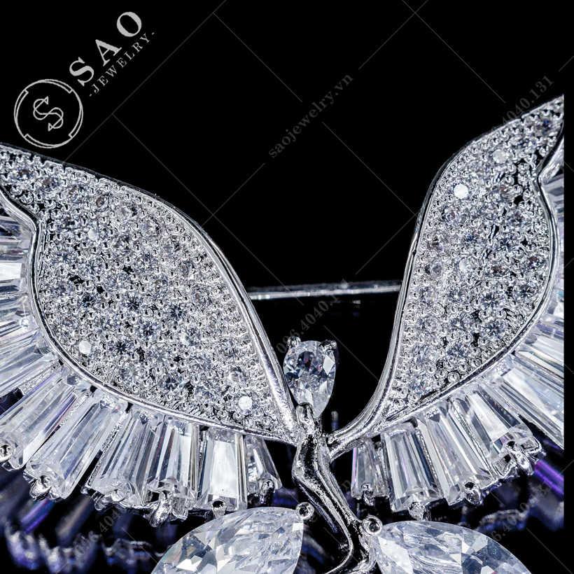 Cài áo thiên thần pha lê SAO - C103