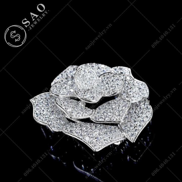 Hoa cài áo hồng đua nở SAO - C674