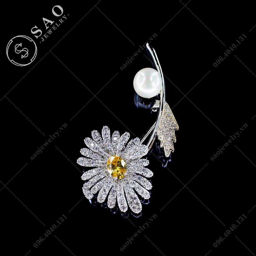 Hoa cài áo hướng dương cao cấp SAO - C43