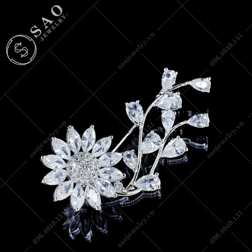 Hoa cài áo hướng dương xoay sang trọng SAO - C441