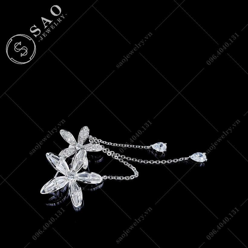 Hoa cài áo tua rua thanh lịch SAO - C410