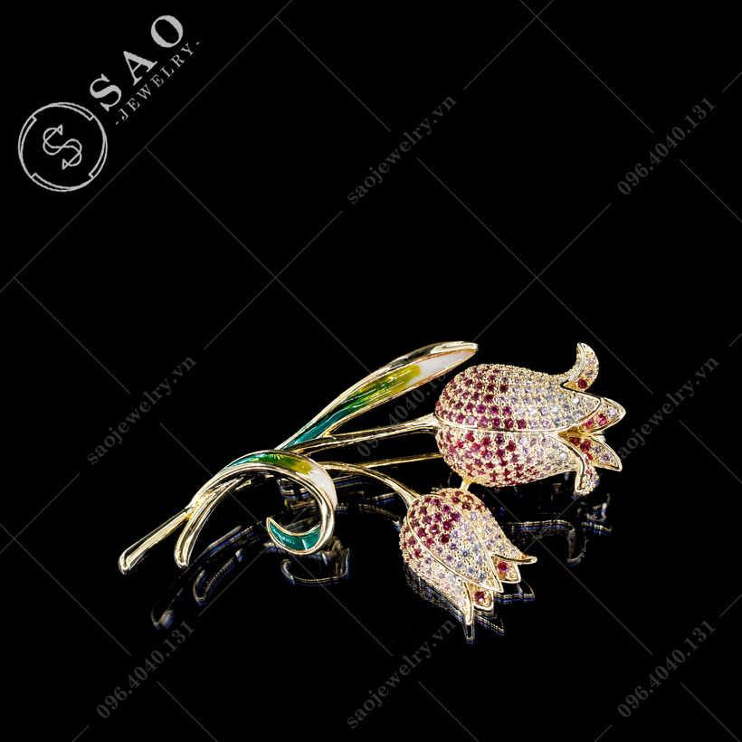 Hoa cài áo Tulip cao cấp SAO - C433