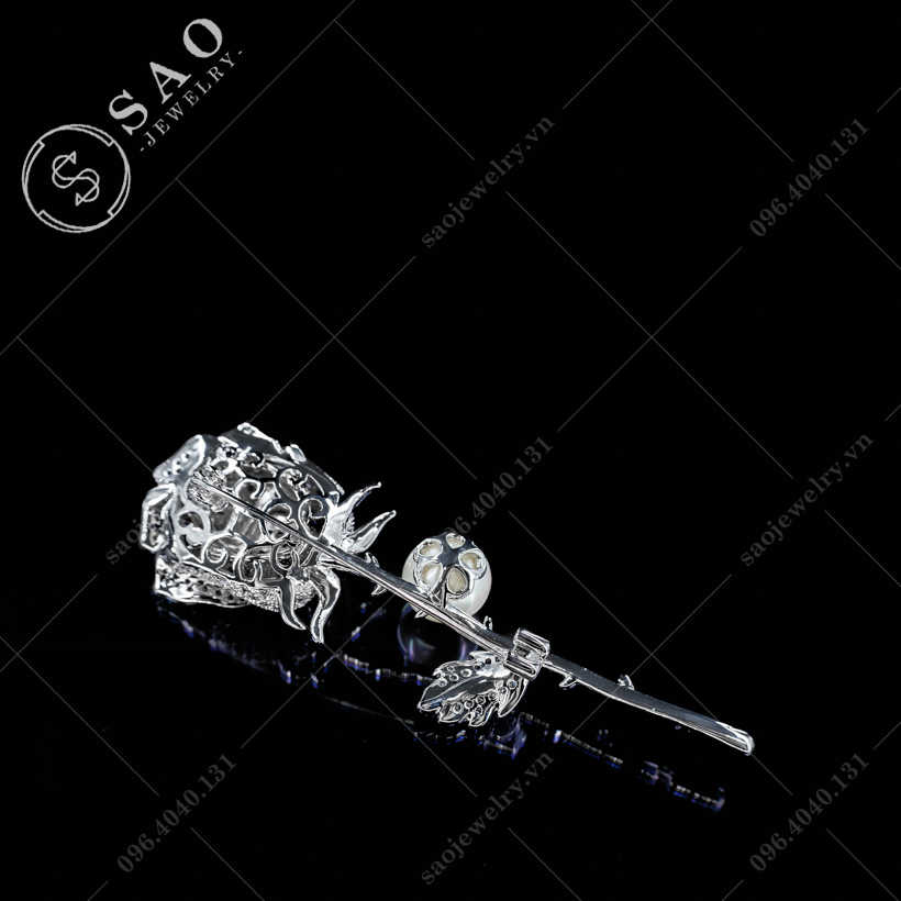 Hoa hồng cài áo sang trọng SAO - C356