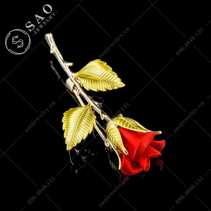 Hoa hồng cài áo nữ thanh lịch SAO - C700