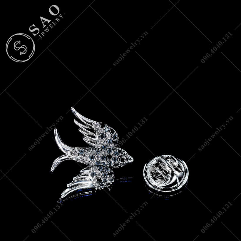 Khuy cài áo chim én SAO - K36