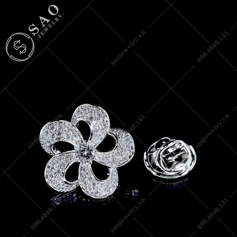Khuy cài áo hoa mận gai SAO - K34